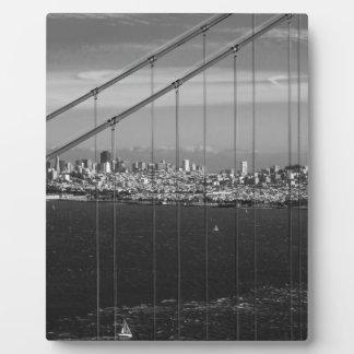 B&W Golden Gate Bridge Plaque