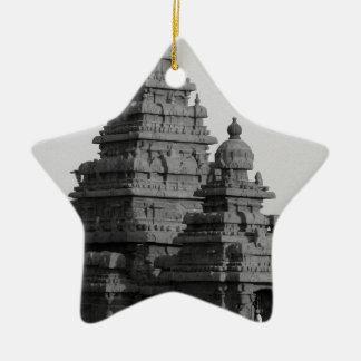 B&W Golden Temple in India Ceramic Ornament