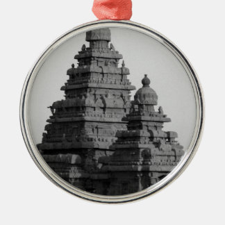 B&W Golden Temple in India Metal Ornament