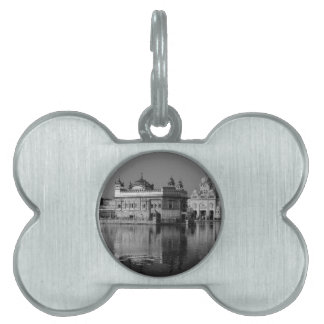 B&W Golden Temple in India Pet ID Tag