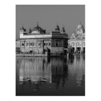 B&W Golden Temple in India Postcard