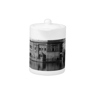 B&W Golden Temple in India Teapot