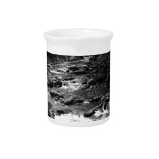 B&W Great Smoky Mountains river Beverage Pitcher