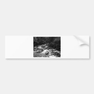 B&W Great Smoky Mountains river Bumper Sticker