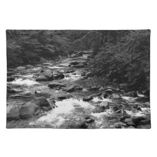 B&W Great Smoky Mountains river Placemat