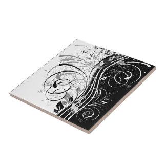 B&W grunge Ceramic Tile