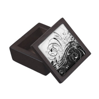 B&W grunge Gift Box