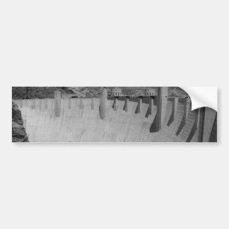 B&W Hoover Dam 2 Bumper Sticker