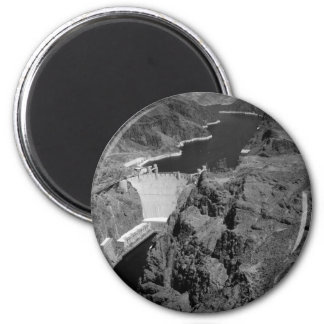 B&W Hoover Dam 2 Inch Round Magnet