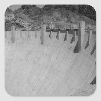 B&W Hoover Dam 2 Square Sticker