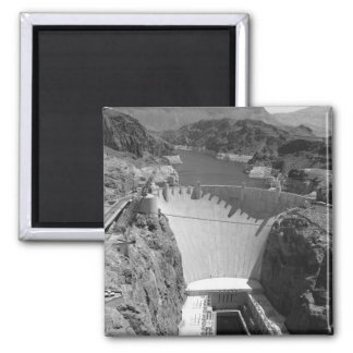 B&W Hoover Dam 3 2 Inch Square Magnet