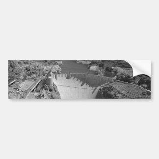 B&W Hoover Dam 3 Bumper Sticker