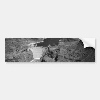 B&W Hoover Dam Bumper Sticker