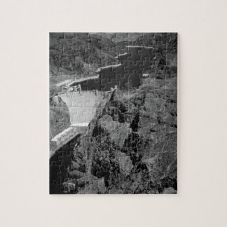B&W Hoover Dam Jigsaw Puzzle