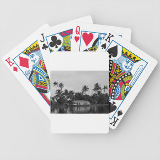 B&W House Boat Bicycle Playing Cards