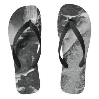 B&W Iguazu Falls Flip Flops