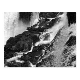 B&W Iguazu Falls Postcard