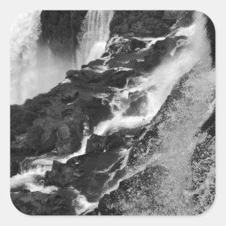 B&W Iguazu Falls Square Sticker