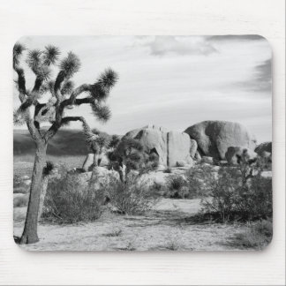 B&W Joshua Tree National Park Mouse Pad