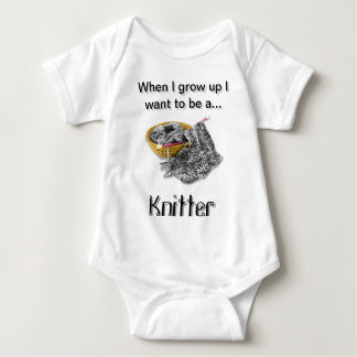 B & W Knitter - When I Grow Up I want to be... Shirt