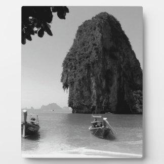 B&W Krabi beach Photo Plaque