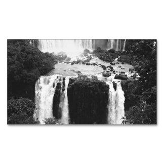 B&W las cataratas del Iguazú Tarjetas De Visita Magnéticas (paquete De 25)
