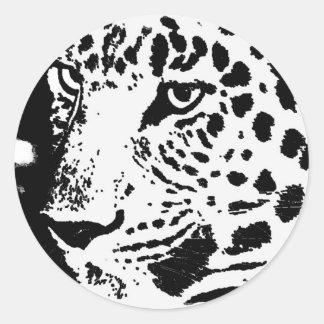 B W Leopard Eyes Stickers