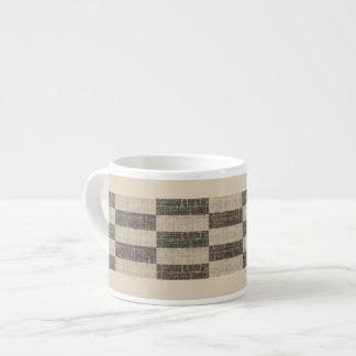 B&W Linen Checker Espresso Cup