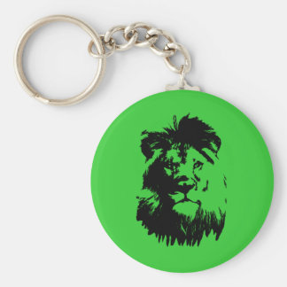 B & W Lion Keychain