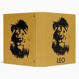 B & W Lion Vinyl Binder