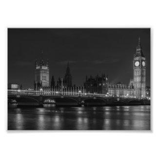 B&W London Photo Print
