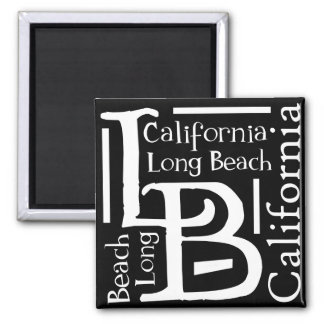 B&W Long Beach 2 Inch Square Magnet