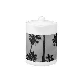 B&W Los Angeles palms