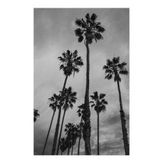 B&W Los Angeles palms Stationery