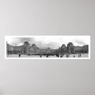 B&W Louvre Panoramic Print