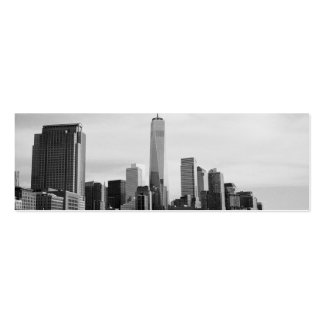B&W Manhattan Double-Sided Mini Business Cards (Pack Of 20)