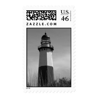 B&W - Montauk Lighthouse - Stamp