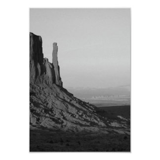 B&W Monument Valley 2 3.5x5 Paper Invitation Card