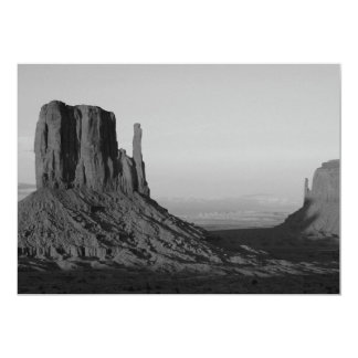 B&W Monument Valley 2 5x7 Paper Invitation Card
