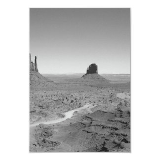 B&W Monument Valley 3 3.5x5 Paper Invitation Card
