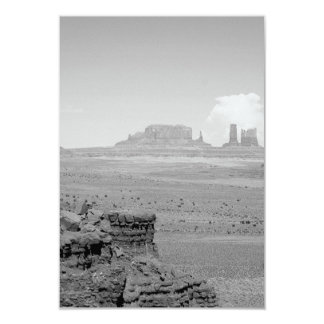 B&W Monument Valley 3.5x5 Paper Invitation Card