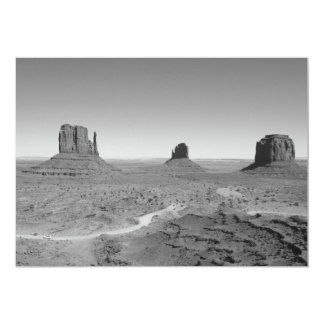 B&W Monument Valley 3 5x7 Paper Invitation Card