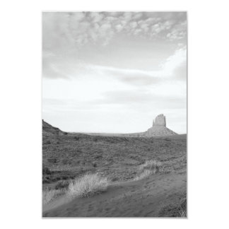 B&W Monument Valley 4 3.5x5 Paper Invitation Card