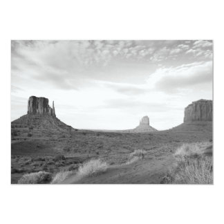 B&W Monument Valley 4 5x7 Paper Invitation Card