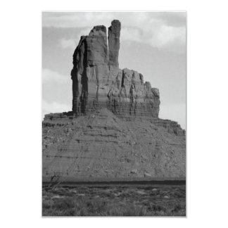 B&W Monument Valley 5 3.5x5 Paper Invitation Card