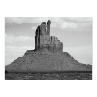 B&W Monument Valley 5 5x7 Paper Invitation Card