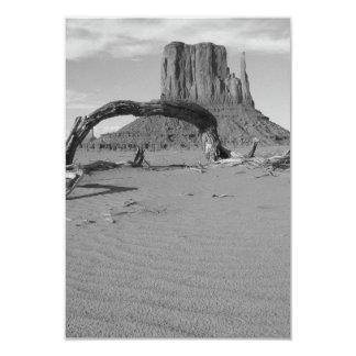 B&W Monument Valley in Arizona/Utah 2 3.5x5 Paper Invitation Card