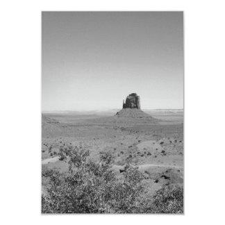 B&W Monument Valley in Arizona/Utah 3.5x5 Paper Invitation Card
