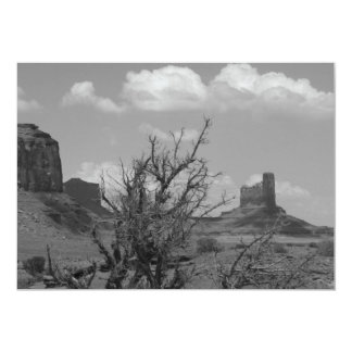 B&W Monument Valley in Arizona/Utah 3 Card