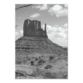 B&W Monument Valley in Arizona/Utah 4 3.5x5 Paper Invitation Card